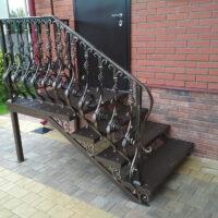 авторская кованая уличная лестница с бюджетом 88 т.р. серпухов 2017