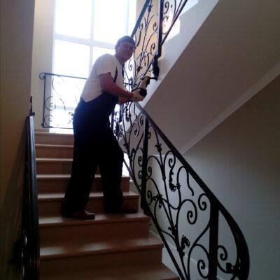 кованые перила на нашу мрамрную лестницу бюджет под ключь 480 т.р. чехов 2017