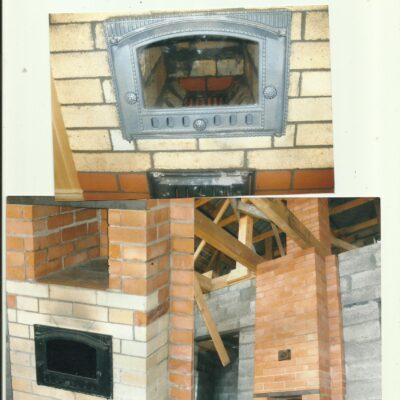 отопительная печь из огнеупорночо и витебског кирпича заокский 1998